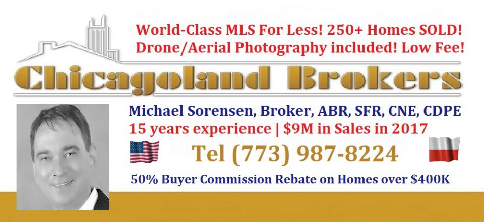50% Chicago Buyer Agent Commission Rebate! 3.5% Seller Commission including Drone Photos! Offer good on Homes over $400,000. Chicago Best Discount Drone Realtor. Tel (773) 987-8224